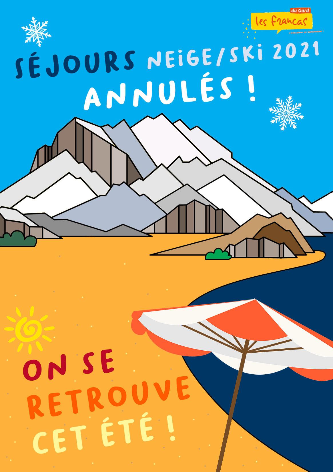 Annulation des séjours Neige et Ski 2020